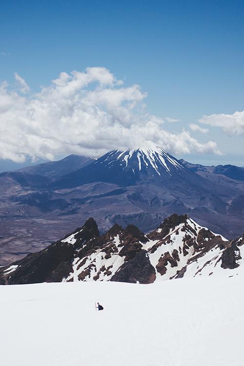 Widok z wulkanu Ruapehu, Nowa Zelandia
