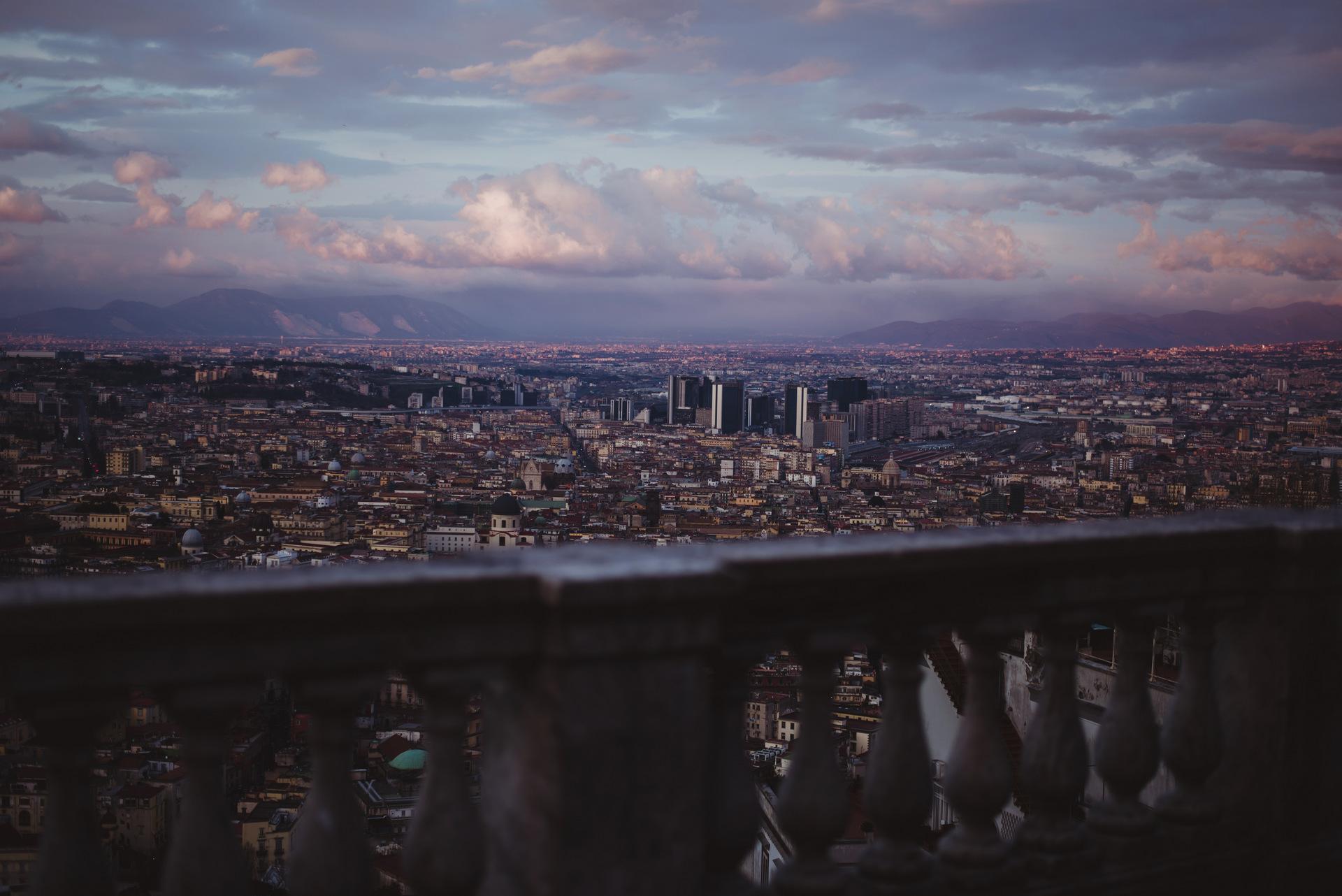zachód słońca neapol