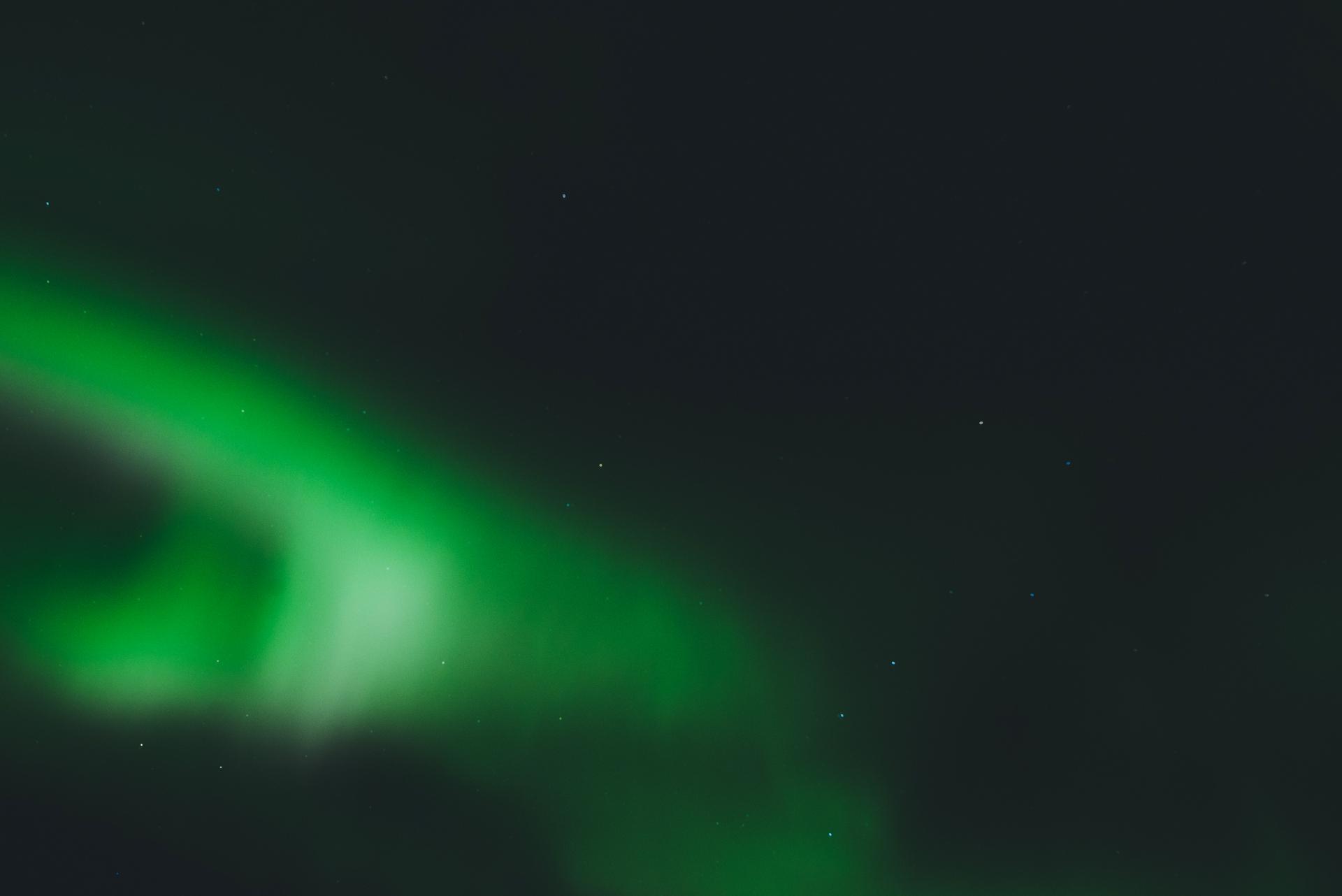 zorza polarna za kolem podbiegunowym