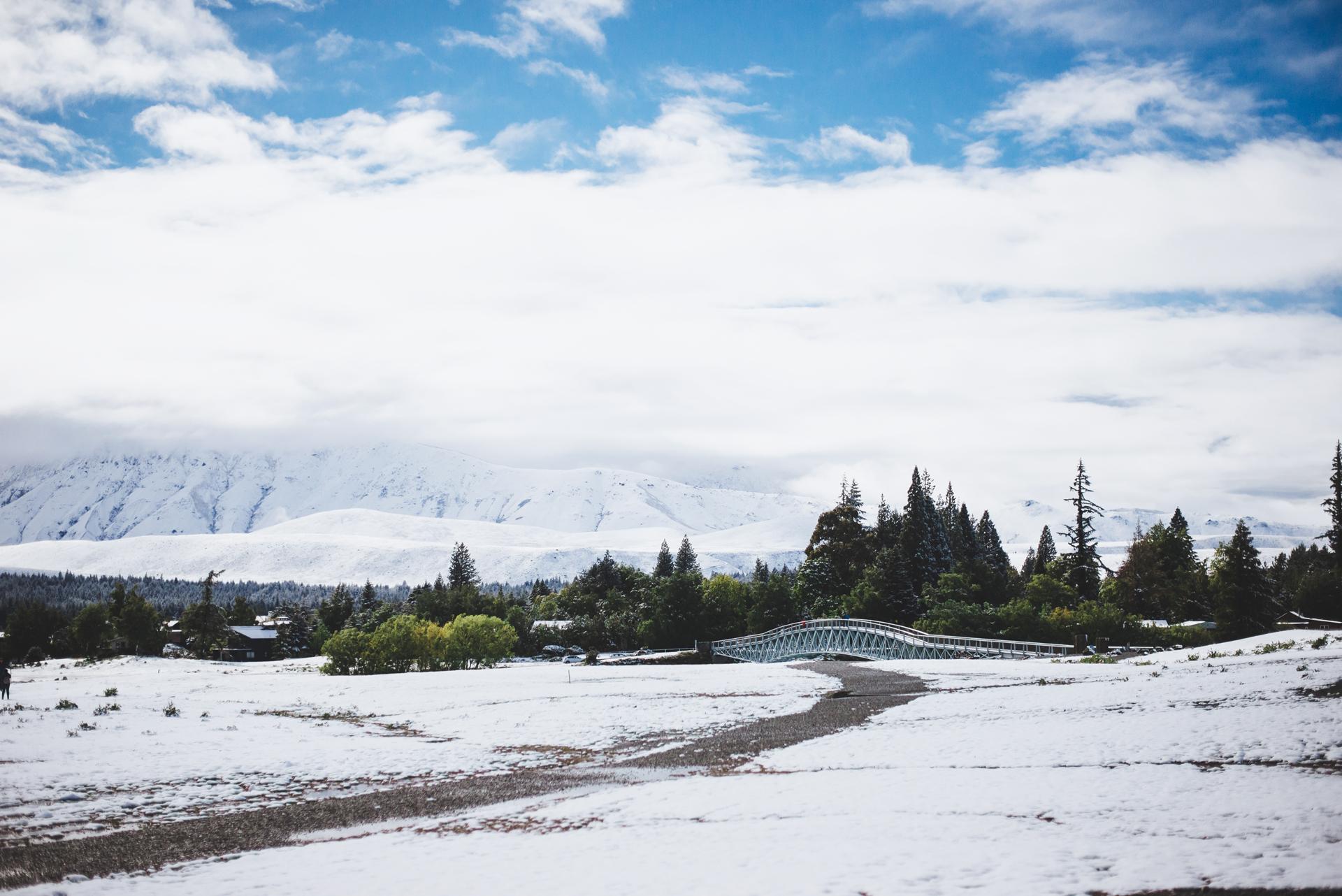 nowa zelandia śnieg