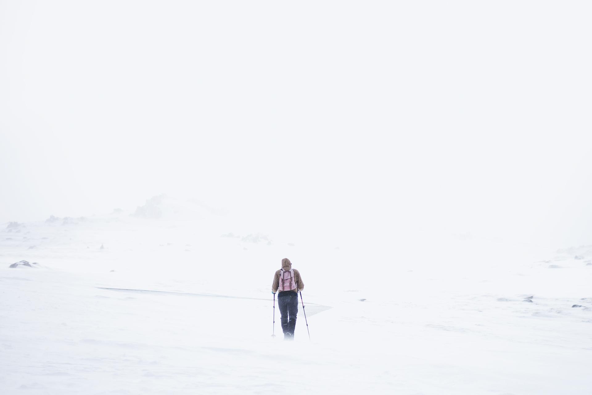 szlak na gorę kościuszki zimą