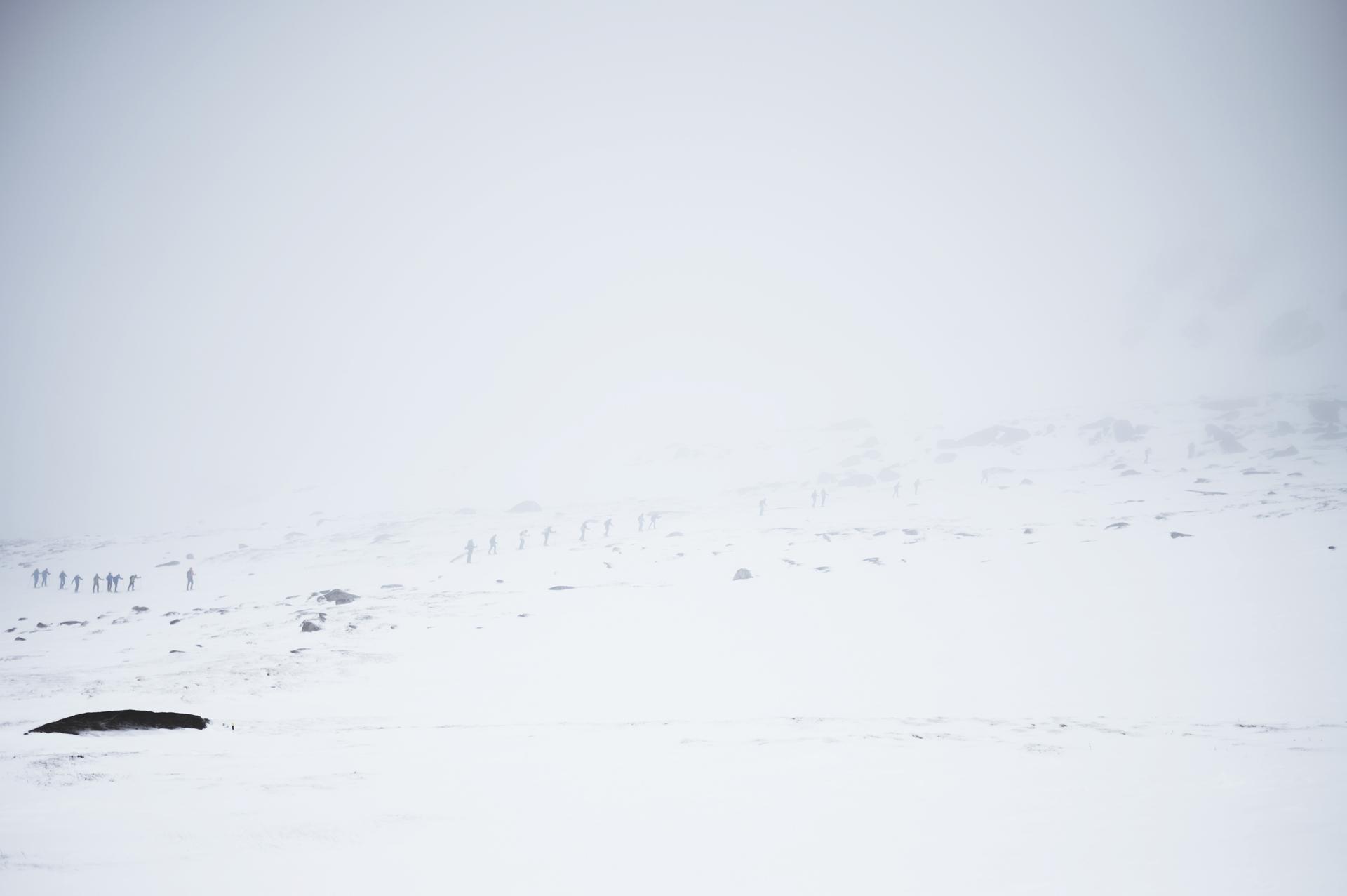 góra kościuszki zimą